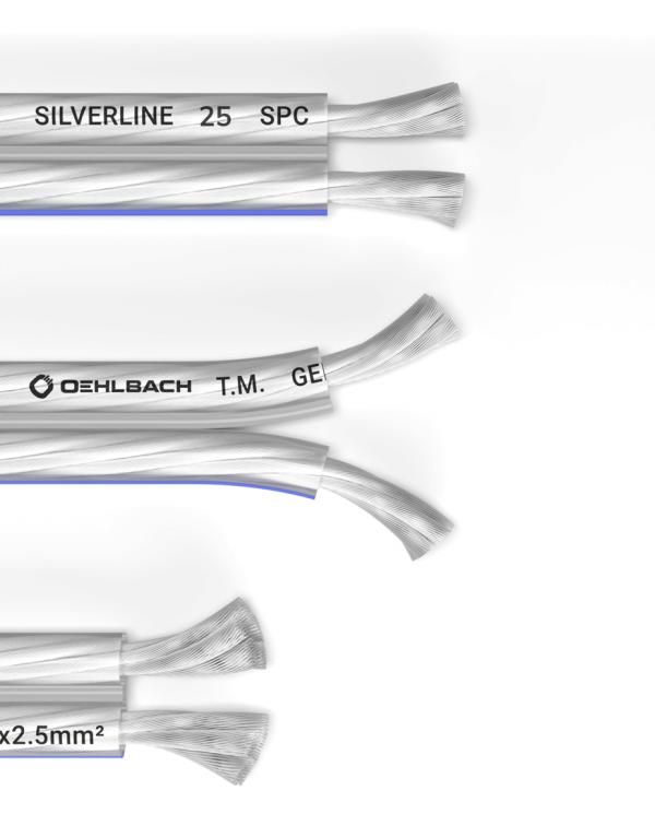 OEHLBACH Silverline SP-15 Καλώδιο Ηχείων 2 x 2,5 mm² 20m (186)