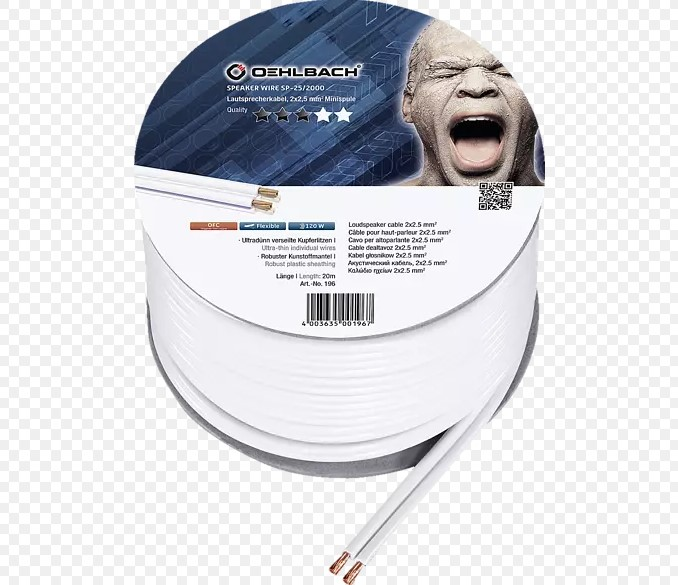 Oehlbach Speaker Wire SP-25 Καλώδιο Ηχείων 2 x 2.5 mm² 20m