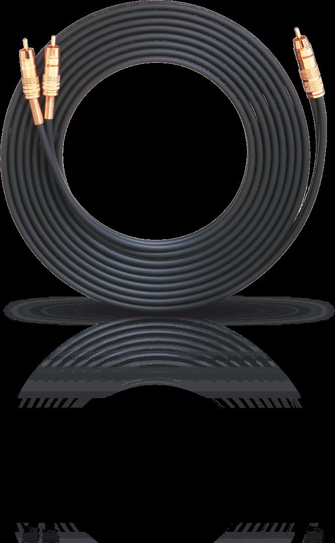 OEHLBACH NF 1 Y-Sub Phono Μαύρο Καλώδιο Subwoofer 5m RCA – 2xRCA (2057)