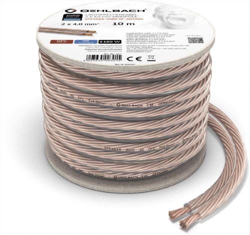 Oehlbach Speaker Wire SP-40 Καλώδιο Ηχείων 2 x 4 mm² 10m