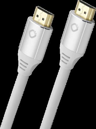 Oehlbach Black Magic MKII Καλώδιο HDMI® Yψηλής Tαχύτητας 0.75m Λευκό