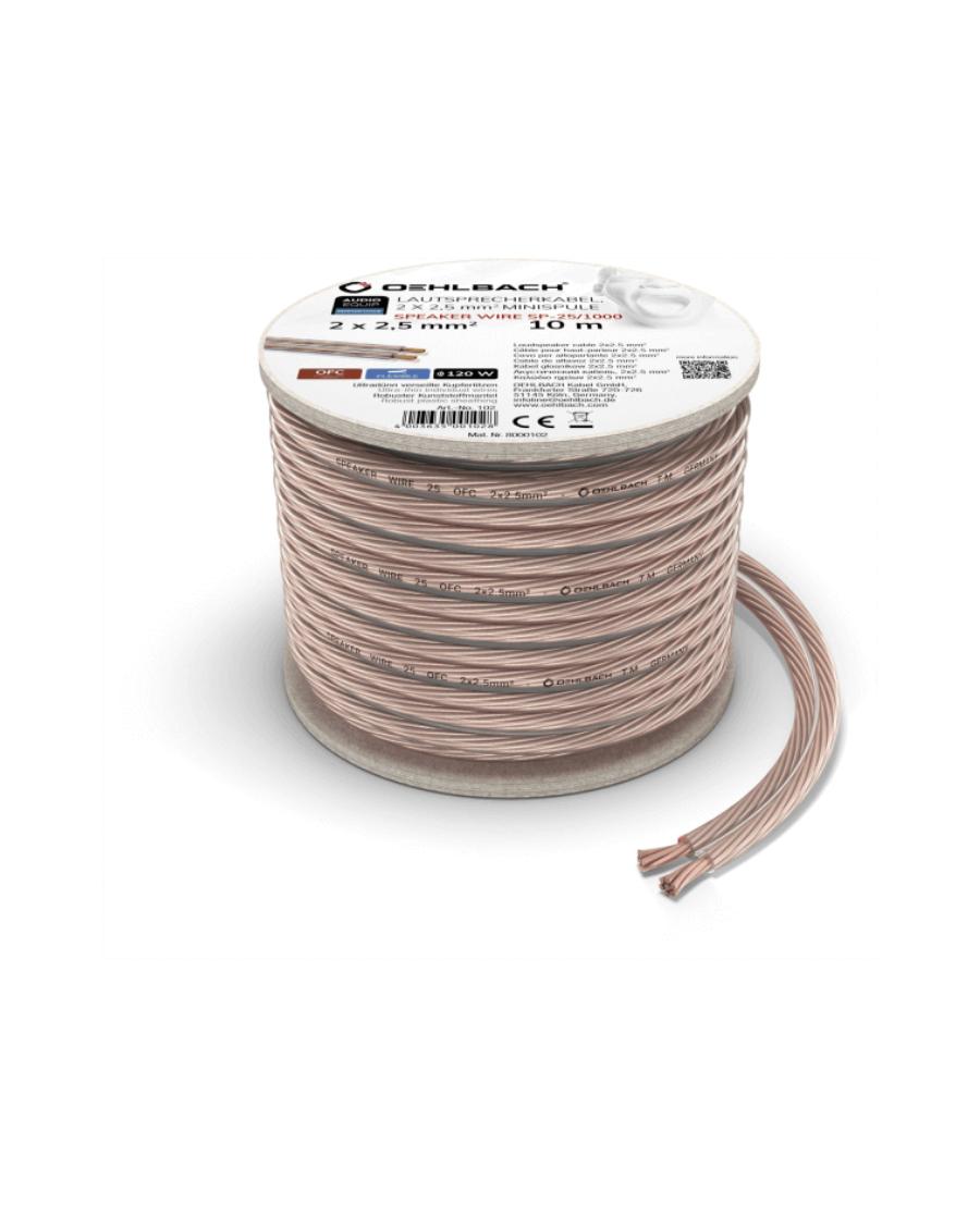 Oehlbach Speaker Wire SP-25 Καλώδιο Ηχείων 2 x 2,5 mm² 10m