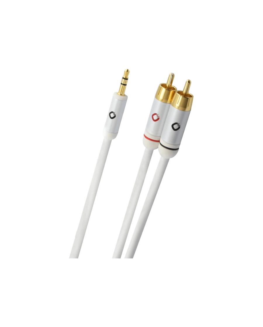OEHLBACH i-Connect J Καλώδιο ήχου φορητής συσκευής  3.5mm Jack  – 2 x RCA  1.5m Λευκό