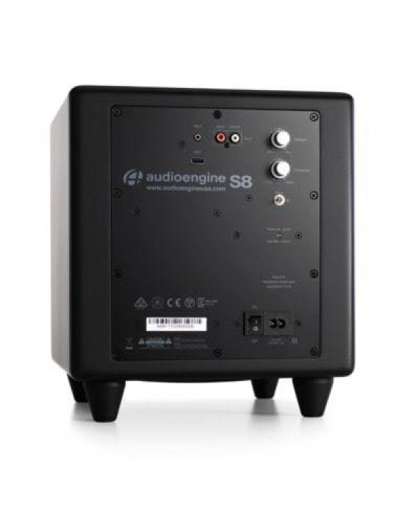 """Audioengine S8BL-W3 Wireless Active Subwoofer  8"""" 125W RMS"""